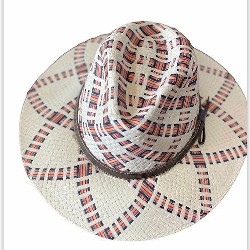Stripe Ribbon Straw Hat