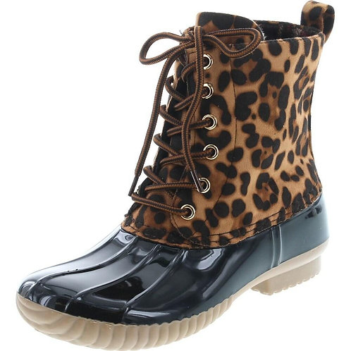 Leopard Navy Duck Boot