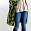Thumbnail: Olive Animal Print ~ Fuzzy Long Open Front Sweater Cardigan