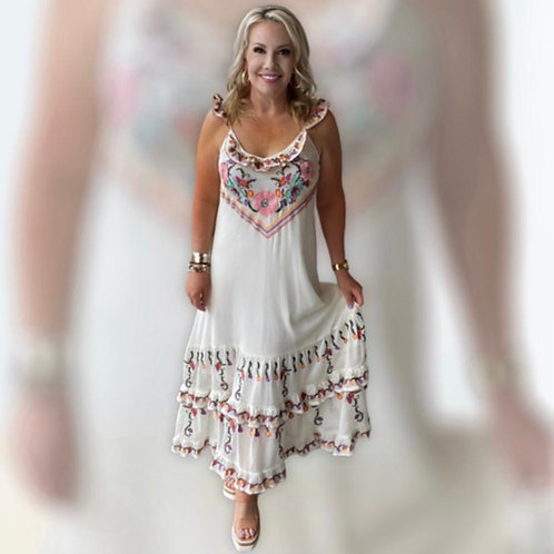 Lacey Embroidery Dress