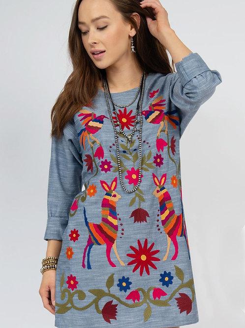 Ivy Jane Denim Embroidery Dress