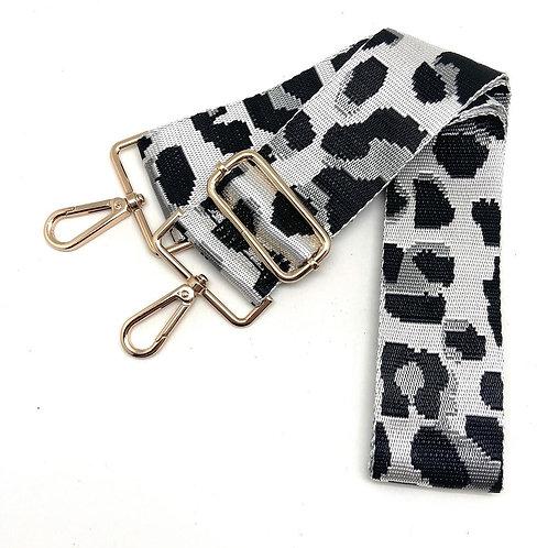 Silver Black Leopard Single Strap
