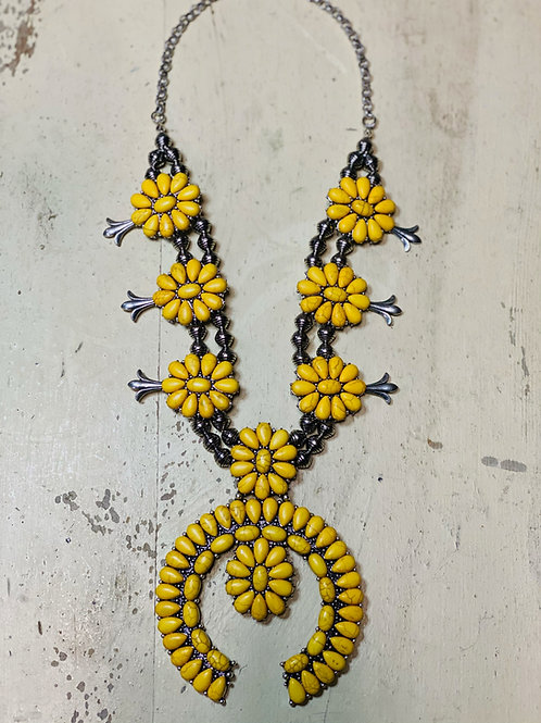 Yellow Squash Necklace