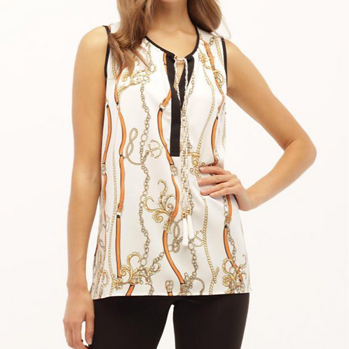 Chain Sleeveless Top