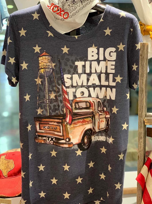 Big Time Small Town T-Shirt with Crystals