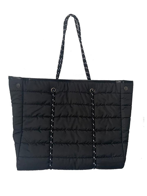 Black Tote Quilted