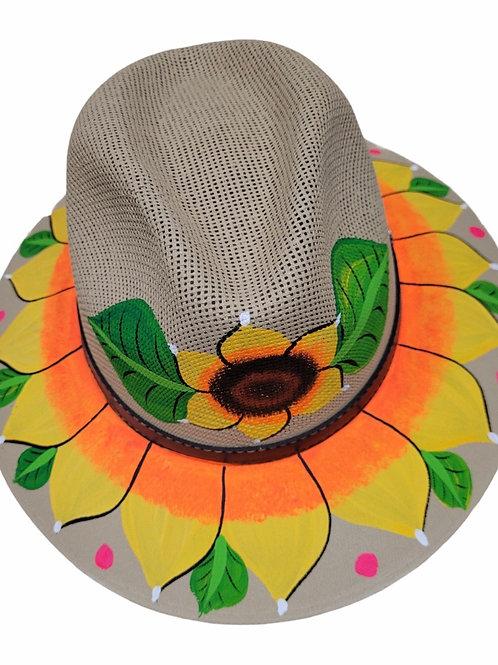Sunflower Straw Brim Hat