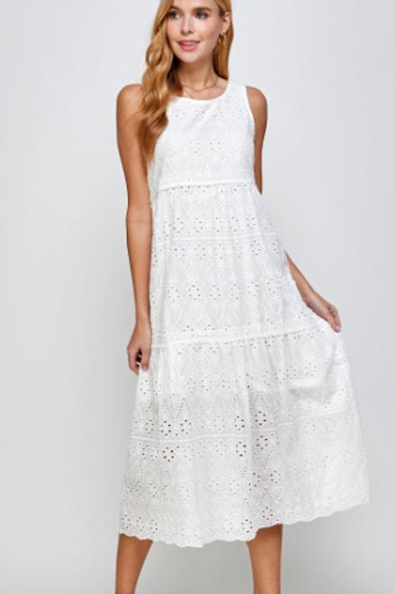 Eyelet Ann Tiered Dress