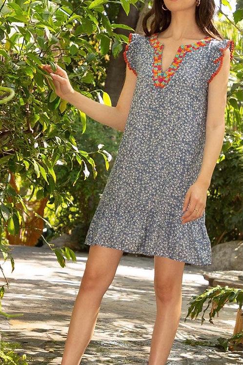 Swish Floral Ruffle Dress