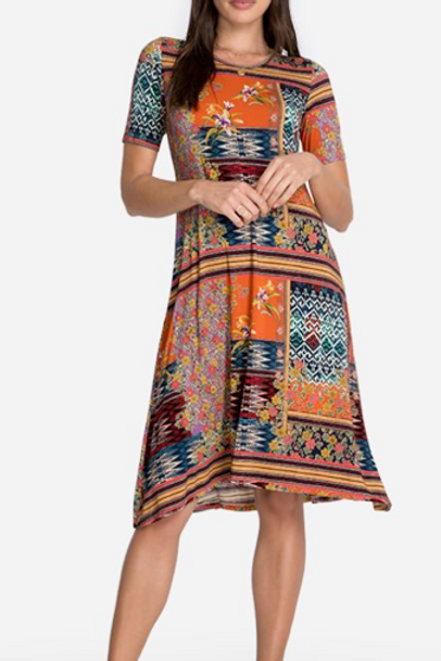 Johnny Was Swing Bamboo Dress Multi