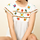 Thumbnail: Floral White Embroidered Top