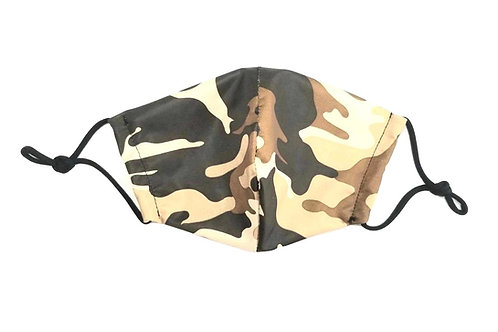 Camo ~ Brown ~ Double Layer ~ Insert ~ Adult Mask