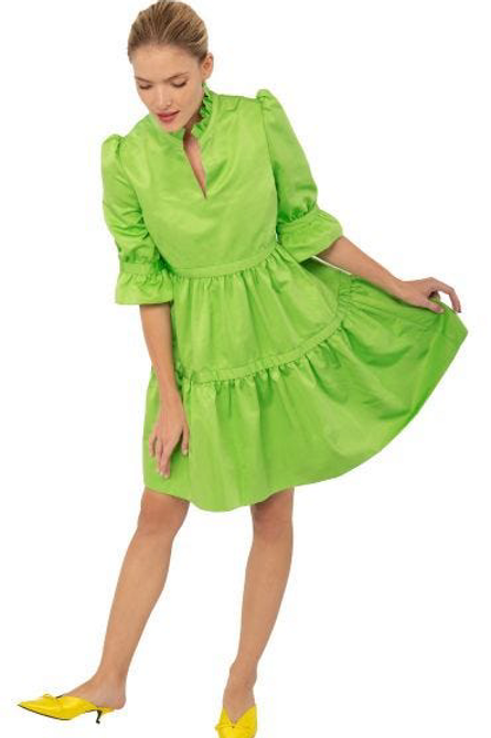 Tiered Lime Dress