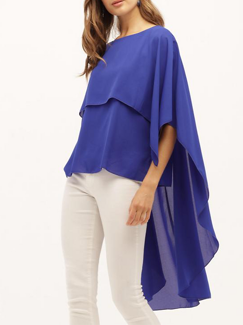 Gorgeous Royal Blue Top with Flowing Tails