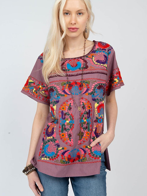 Floral Embroidery Top Ivy Jane
