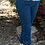 Thumbnail: Denim Pull On Crop Pant ~ Capri with Cut Out Detail Jean