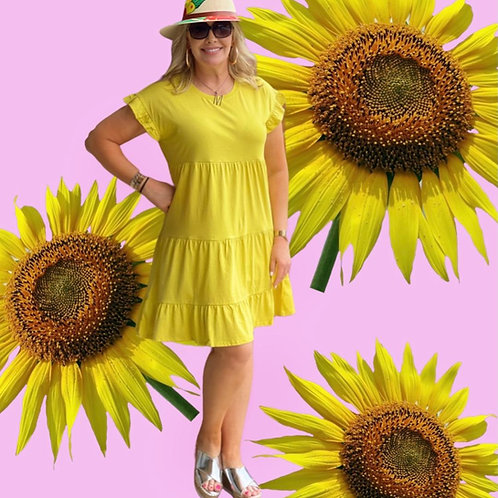 Sun Light Yellow Dress Cotton