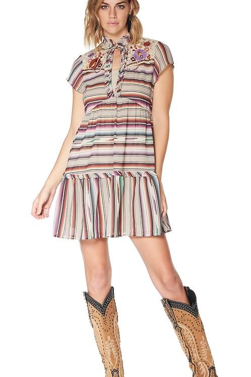 Double D Ranch Santa Rita Serape Print Dress