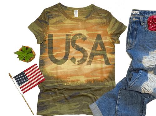 USA Camo Tie-Dye T-Shirt