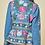 Thumbnail: Blue Denim Embroidery Floral Jacket