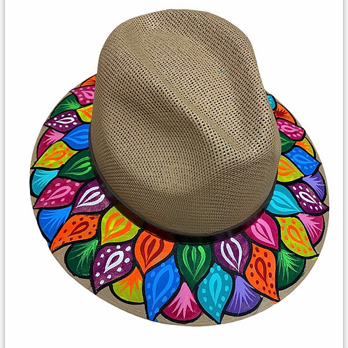 Feathers Straw Hat