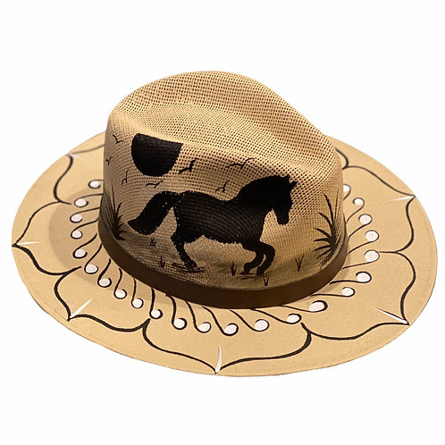 Natural Horse Straw Hat