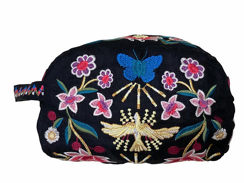 Embroidery Butterfly Make Up Carry All