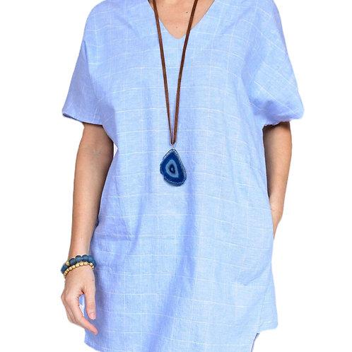 Light Weight Denim Baby Blue Dress/Tunic