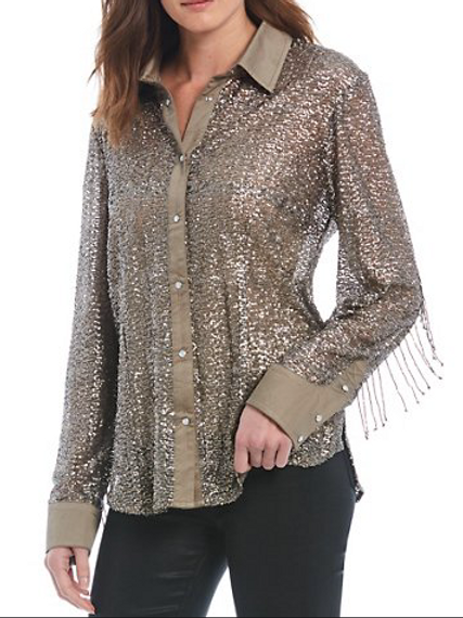 Double D Ranchwear Champagne Toast Top