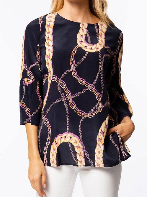 Tyler Boe Silk Chain Top