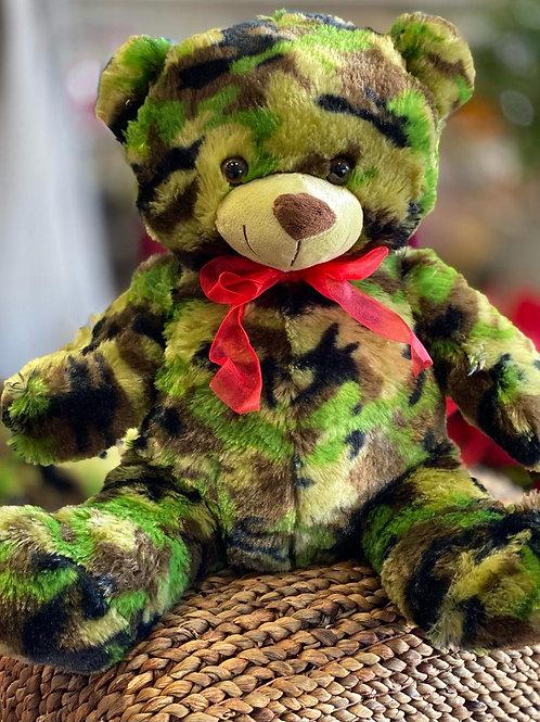 Love Camo Plush Bear