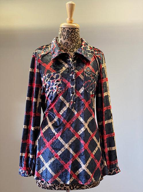 Velvet Leopard Tunic Top