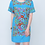 Thumbnail: Flan Sister Mary Turquoise Embroidery Dress