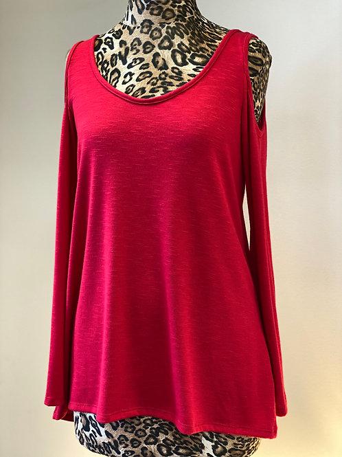 Red Kay Celine Cold Shoulder