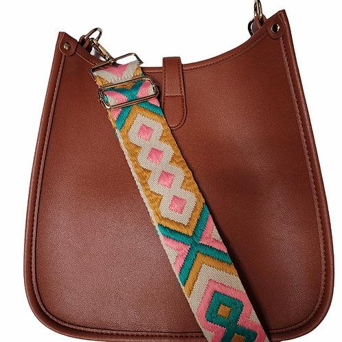 Saddle Vegan Leather with Strap