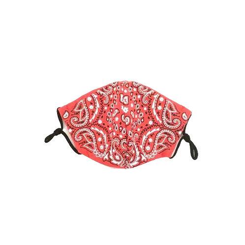 Red Bandana Print ~ Double Layer ~ Adult Size Mask