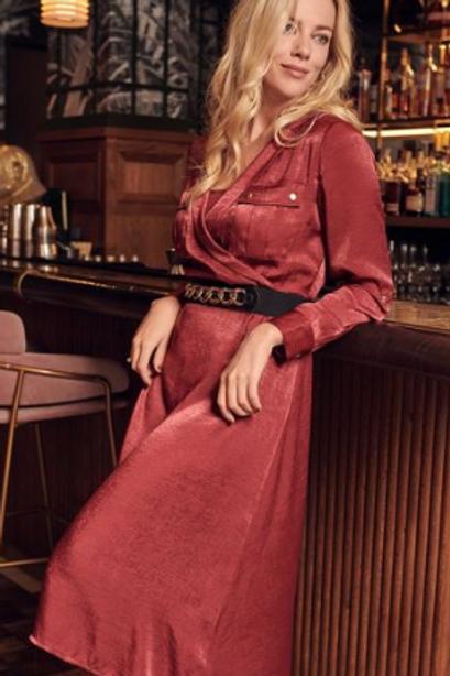 Satin Maxi Dress ~ Wine