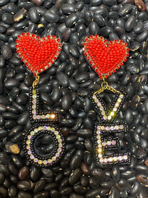 LOVE Heart Earring - Post