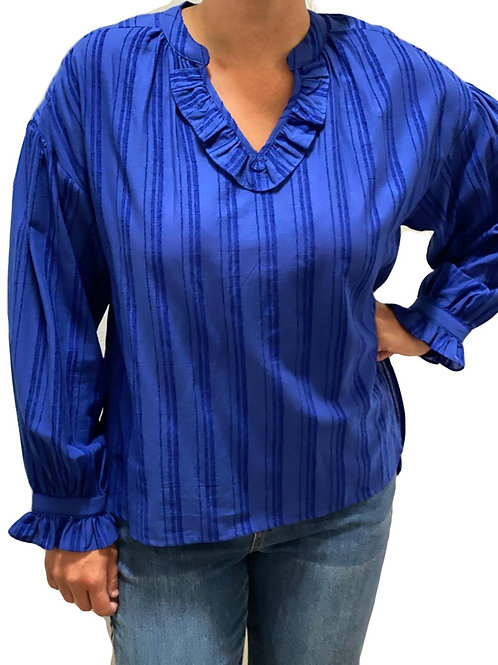 Royal Blue Long Sleeve Top