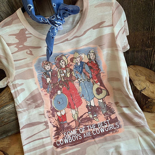 Cowgirl Pink Camo T~Shirt w/ Crystals