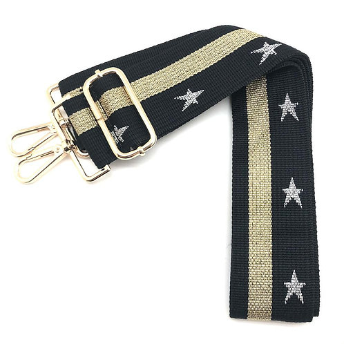 Gold & Whit Stars Single Strap