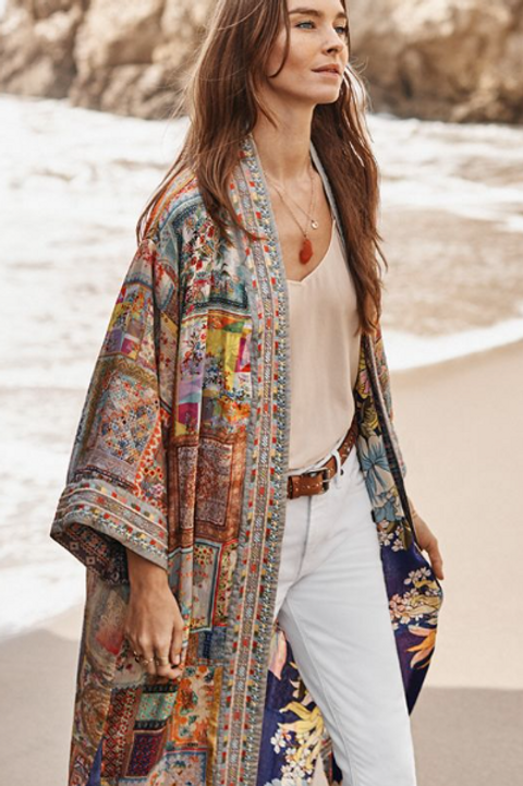 Johnny Was Silk Kimono