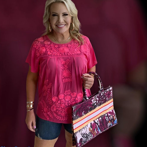 Pinky June Embroidery Top