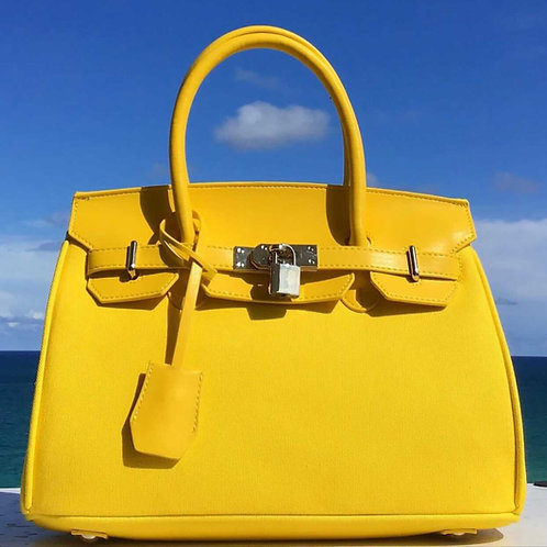 Yellow Sun Handbag ~ Vegan Leather