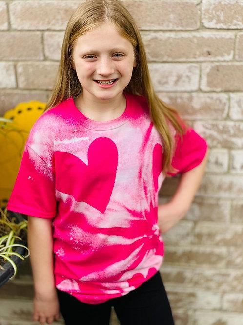Pink Heart Love T-Shirt