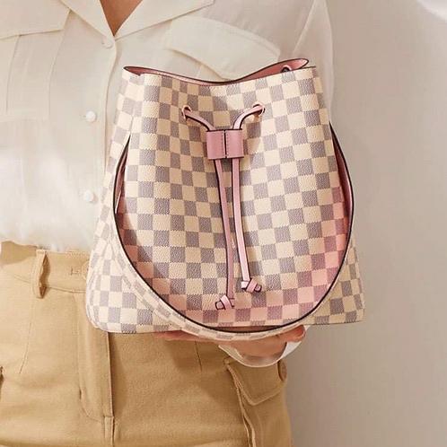 Pink/Ivory Bucket Bag