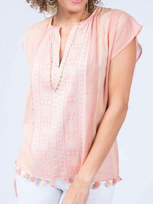 Light Pink Pom Pom Top Ivy Jane