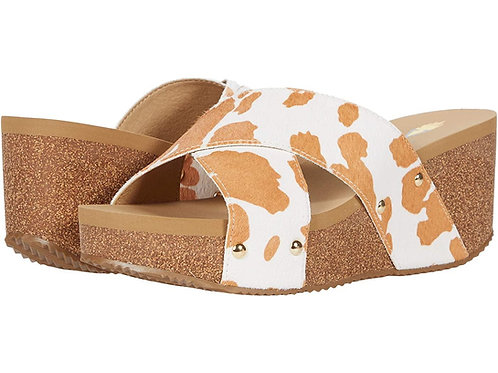 Tan/White Sandal Wedge