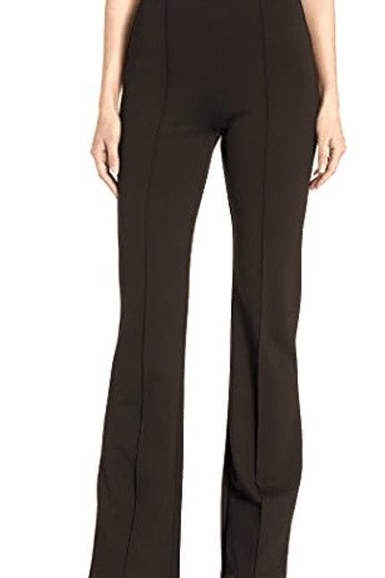 Lysee Dark Brown Ponte Wide Leg Tummy Control Pant