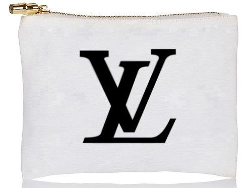 LV Designer Inspired Flat Zip